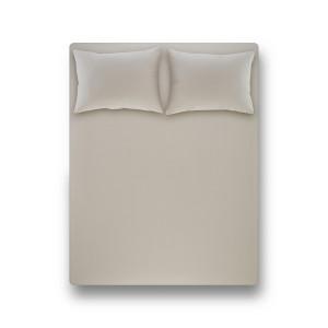 Простынь на резинке с наволочкой Penelope - Laura light grey светло-серый 120*200+50*70