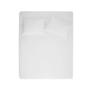 Простынь на резинке с наволочкой Penelope - Stella white белый 100*200+50*70