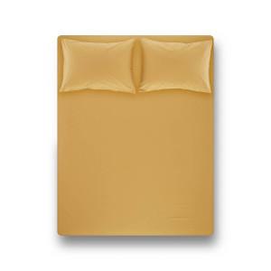 Простынь на резинке с наволочками Penelope - Laura mustard горчичный 200*200+50*70 (2)