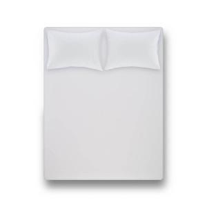 Простирадло на резинці з наволочкою Penelope - Laura white білий 120*200 + 50*70